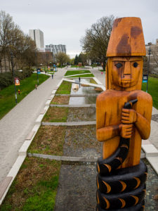 Musqueam Welcome Pole, Syncra Construction, New building Vancouver, pre construction homes, general contractor